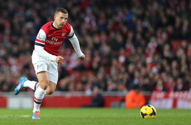Arsenal Podolski Focus
