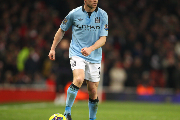 Arsenal v Manchester City.Barclays Premier League Milner