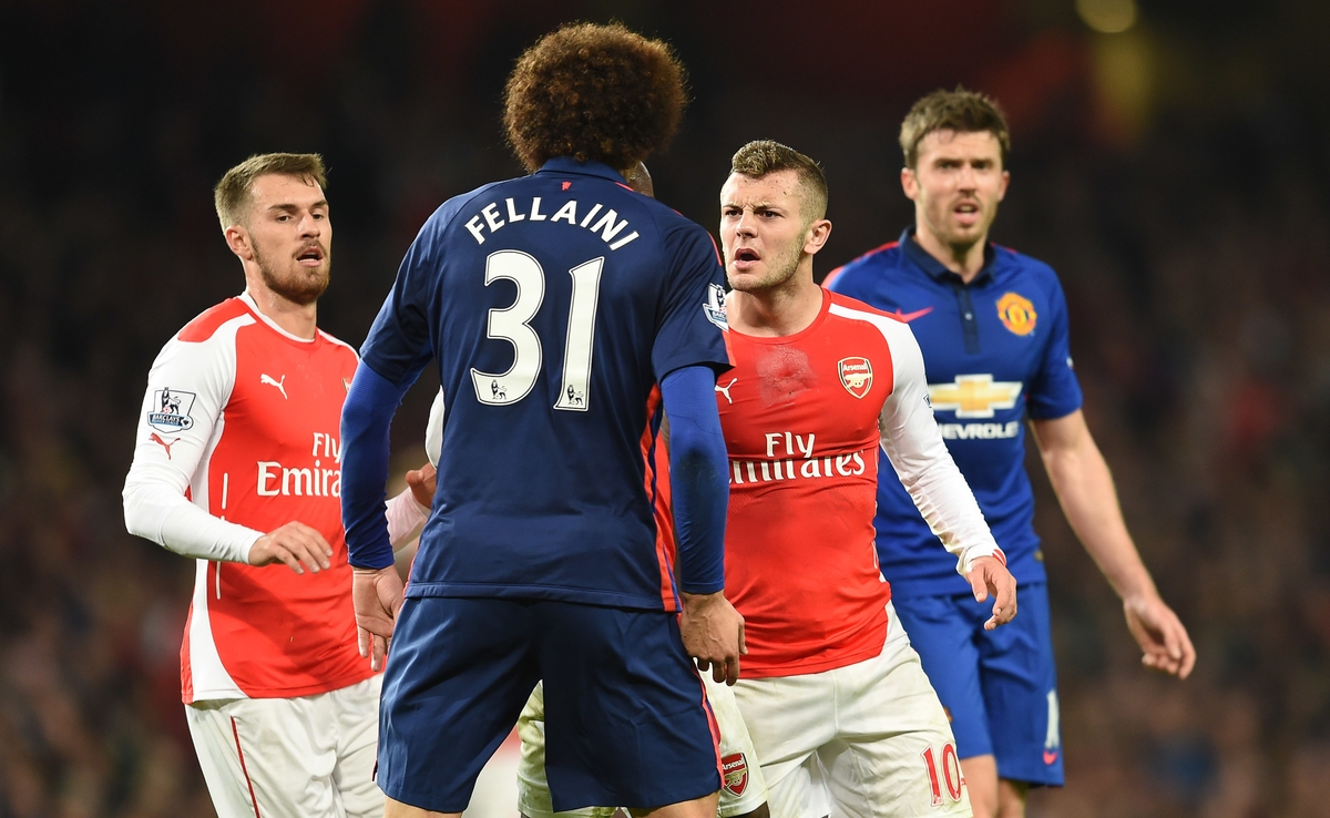 Fellaini Wilshere Arsenal Manchester United Focus