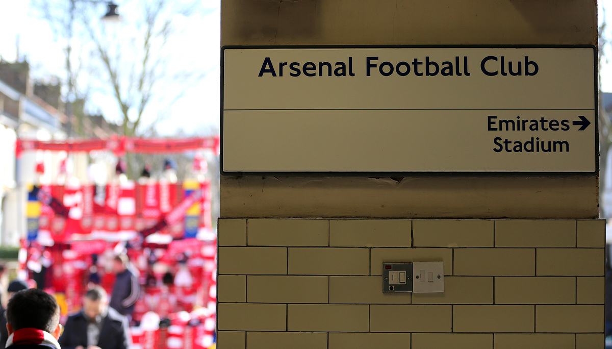 Picture by Richard Calver/Focus Images Ltd +447792 981244 22/02/2014 Arsenal Underground Station before the Barclays Premier League match between Arsenal and Sunderland at the Emirates Stadium, London