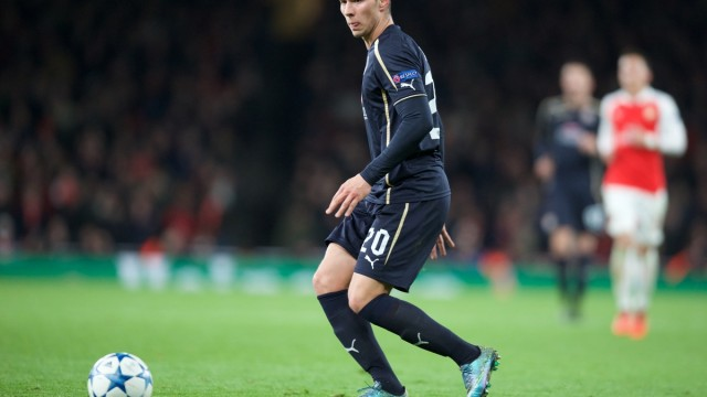 Marko Pjaca of Dinamo Zagreb during the UEFA Champions League match at the Emirates Stadium, London Picture by Alan Stanford/Focus Images Ltd +44 7915 056117 24/11/2015
