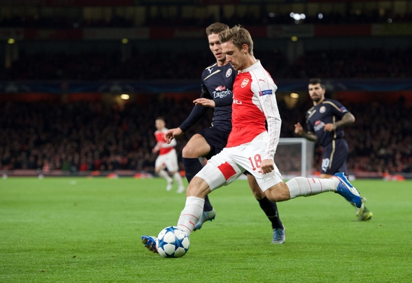 Nacho Monreal of Arsenal during the UEFA Champions League match at the Emirates Stadium, London Picture by Alan Stanford/Focus Images Ltd +44 7915 056117 24/11/2015