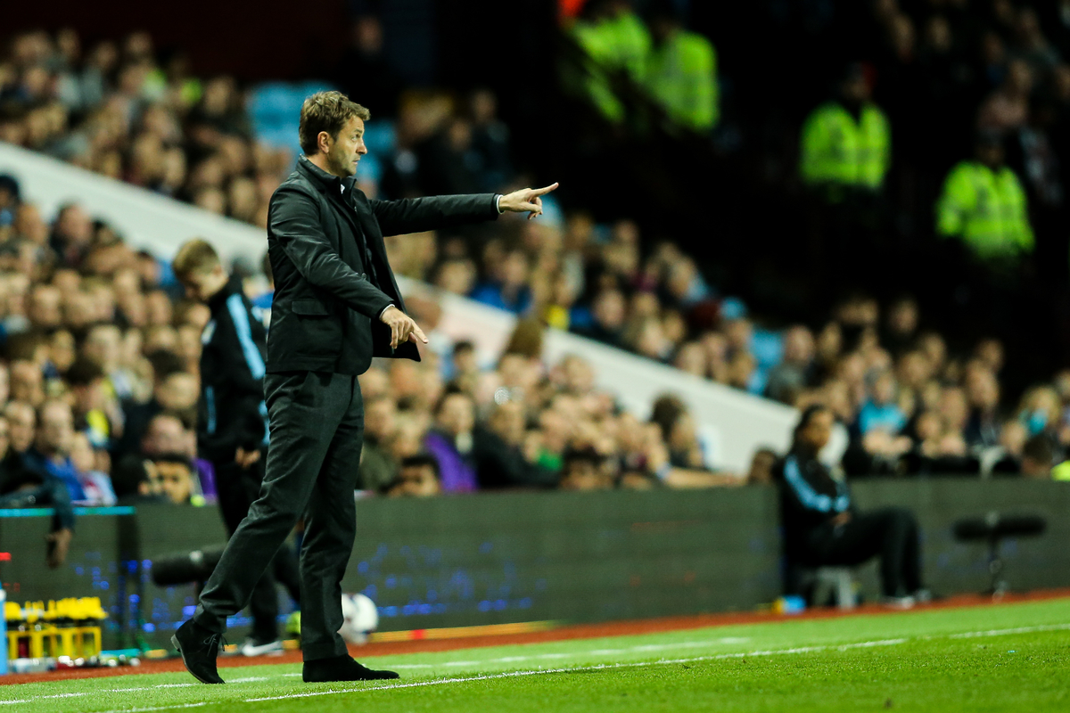 Aston Villa manager Tim Sherwood issues instructions during the Capital One Cup match at Villa Park, Birmingham Picture by Andy Kearns/Focus Images Ltd 0781 864 4264 22/09/2015