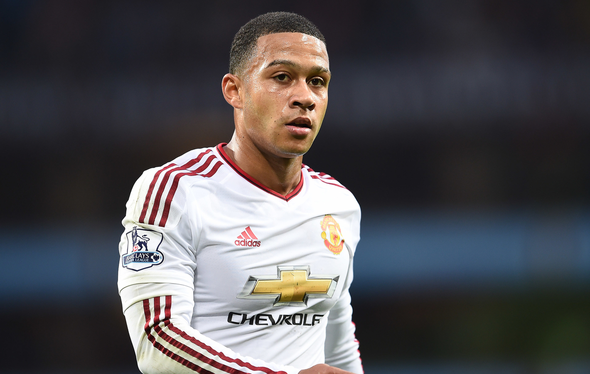 Memphis Depay of Manchester United during the Barclays Premier League match against Aston Villa at Villa Park, Birmingham Picture by Andrew Timms/Focus Images Ltd +44 7917 236526 14/08/2015