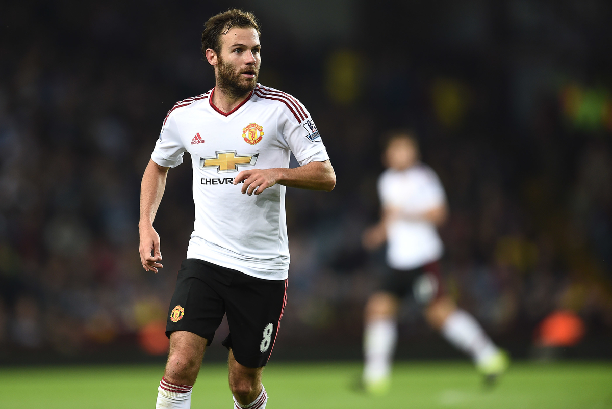 Juan Mata of Manchester United during the Barclays Premier League match against Aston Villa at Villa Park, Birmingham Picture by Andrew Timms/Focus Images Ltd +44 7917 236526 14/08/2015