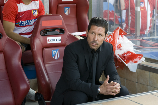 Diego Pablo Simeone, coach of Atlético Madrid  during the La Liga match at Vicente Calderón Stadium, Madrid Picture by Marcos Calvo Mesa/Focus Images Ltd +34 654142934 11/05/2014
