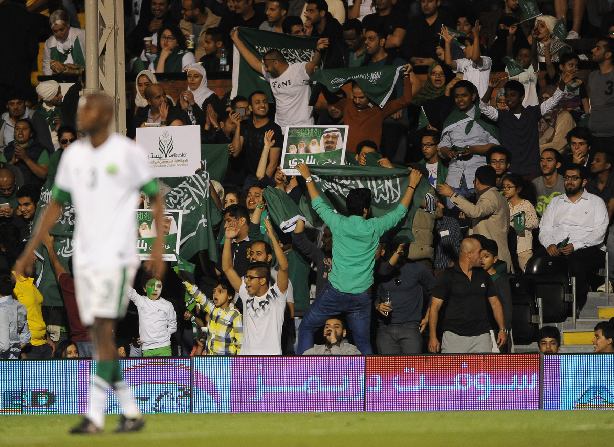 Fans of Saudi Arabia during the International Friendly match at Craven Cottage, London Picture by Daniel Hambury/Focus Images Ltd +44 7813 022858 08/09/2014