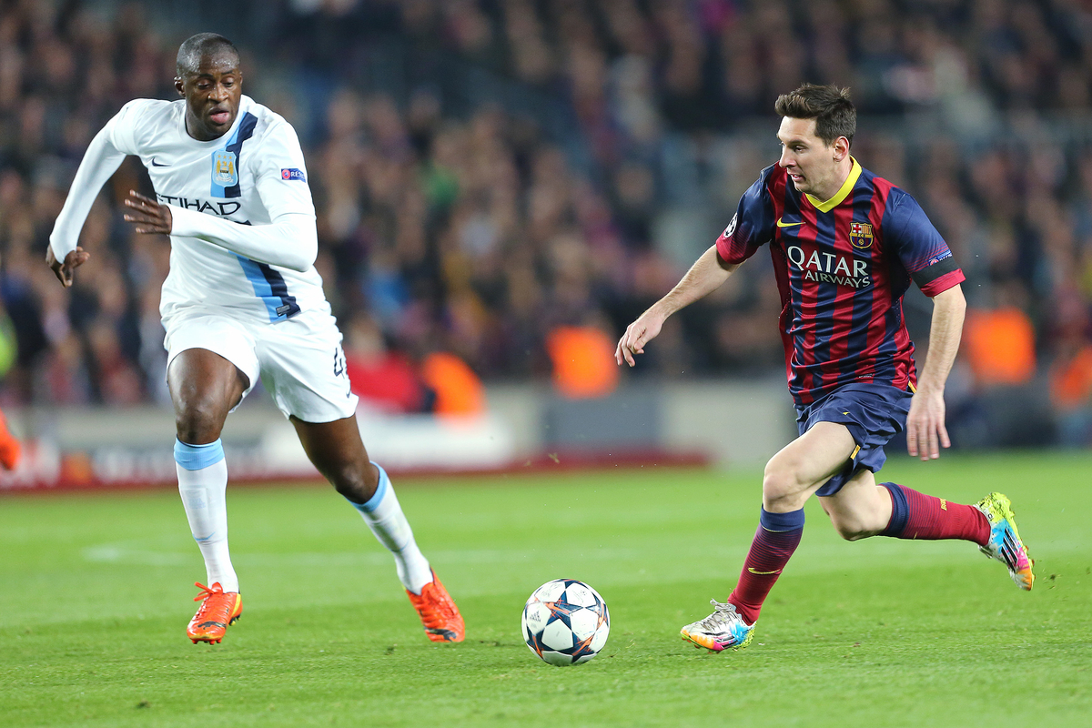 Messi Yaya Touré Manchester City Barcelona Focus