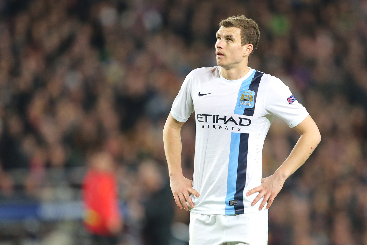 Dzeko Manchester City Focus