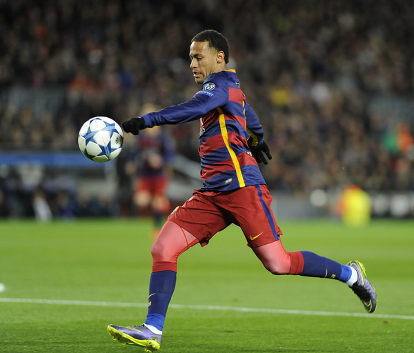 Neymar of FC Barcelona during the UEFA Champions League match at Camp Nou, Barcelona Picture by Stefano Gnech/Focus Images Ltd +39 333 1641678 24/11/2015