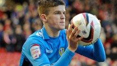Picture by Richard Land/Focus Images Ltd +44 7713 507003 12/01/2013 Sam Byram of Leeds United during the npower Championship match at Oakwell, Barnsley.