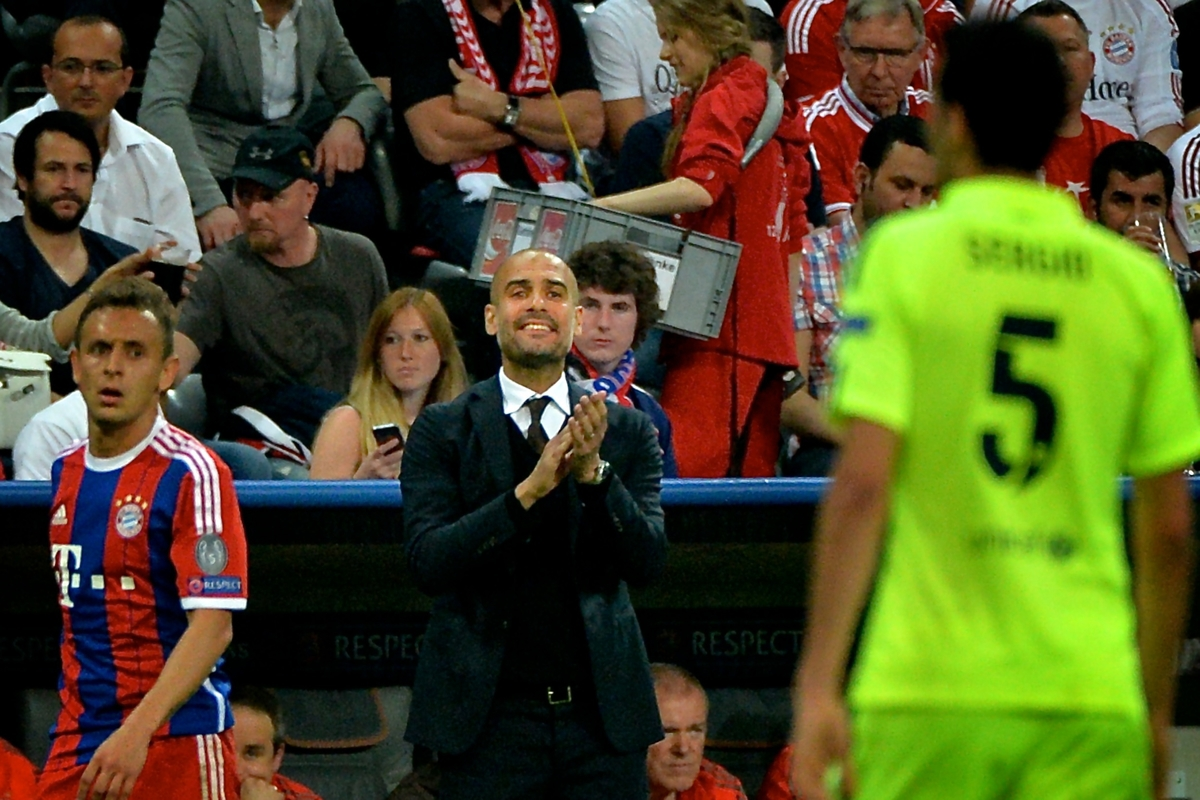Guardiola Barcelona Bayern Focus