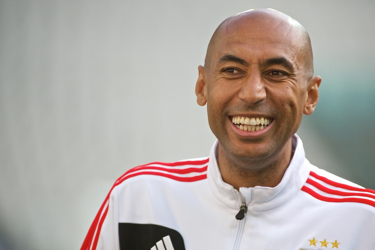 Luisão of Benfica pictured during Benfica training ahead of the Europa League Final at Juventus Stadium, Turin Picture by Ian Wadkins/Focus Images Ltd +44 7877 568959 13/05/2014