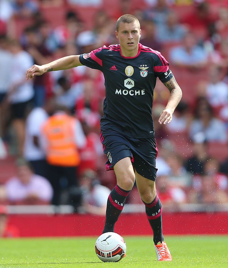 Victor Nilsson Lindelof of Benfica during the Emirates Cup match at the Emirates Stadium, London Picture by Richard Calver/Focus Images Ltd +447792 981244 03/08/2014