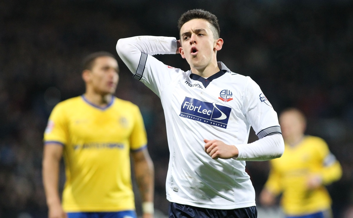 Zach Clough of Bolton Wanderers shows his frustration after missing a chance to score against Wigan Athletic during the FA Cup match at the Macron Stadium, Bolton. Picture by Michael Sedgwick/Focus Images Ltd +44 7900 363072 03/01/2015