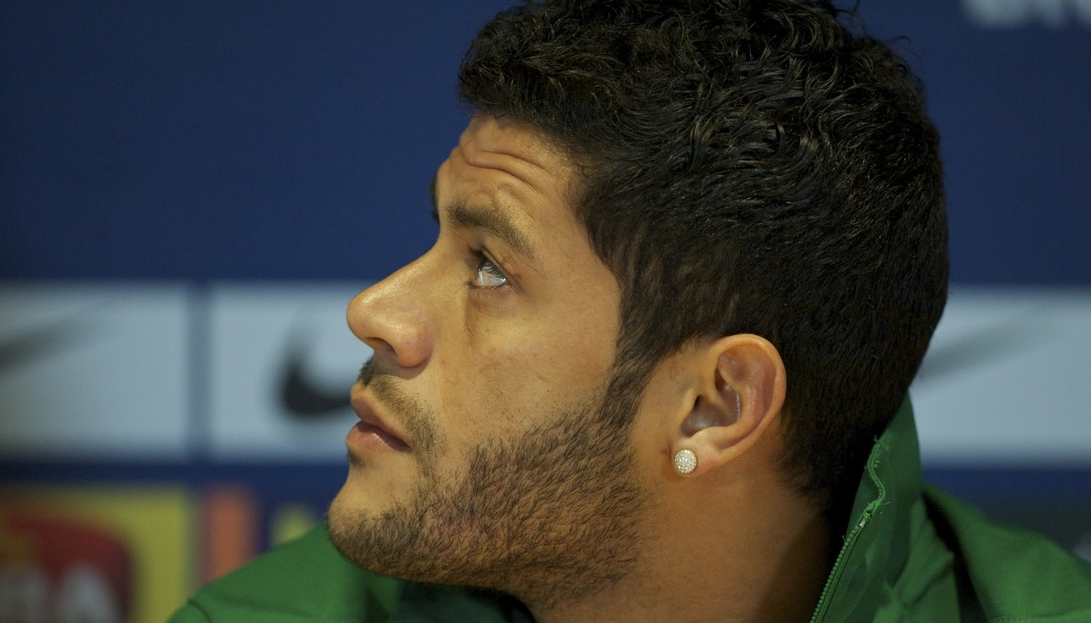 Picture by Alan Stanford/Focus Images Ltd +44 7915 056117.24/03/2013.Hulk during the Brazil PC at Stamford Bridge, London.