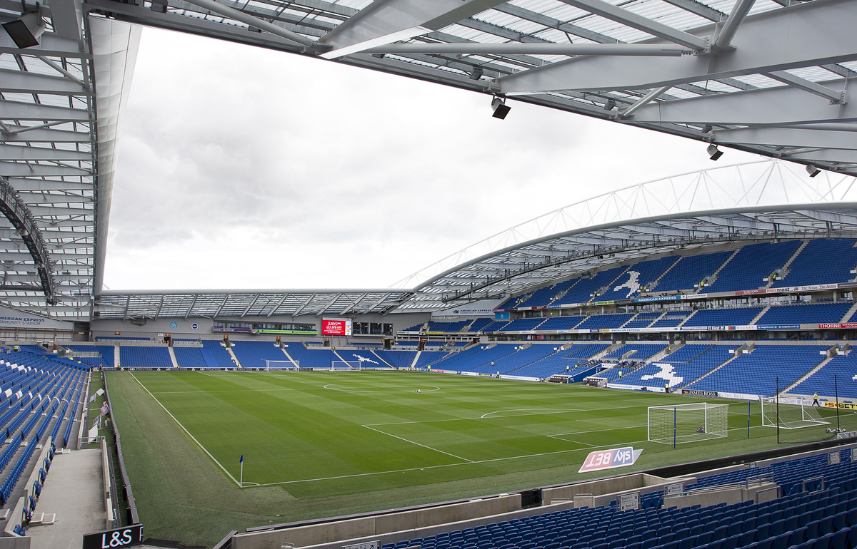 A general view of the stadium before the Sky Bet Championship match at the American Express Community Stadium, Brighton and Hove Picture by Paul Terry/Focus Images Ltd +44 7545 642257 23/08/2014
