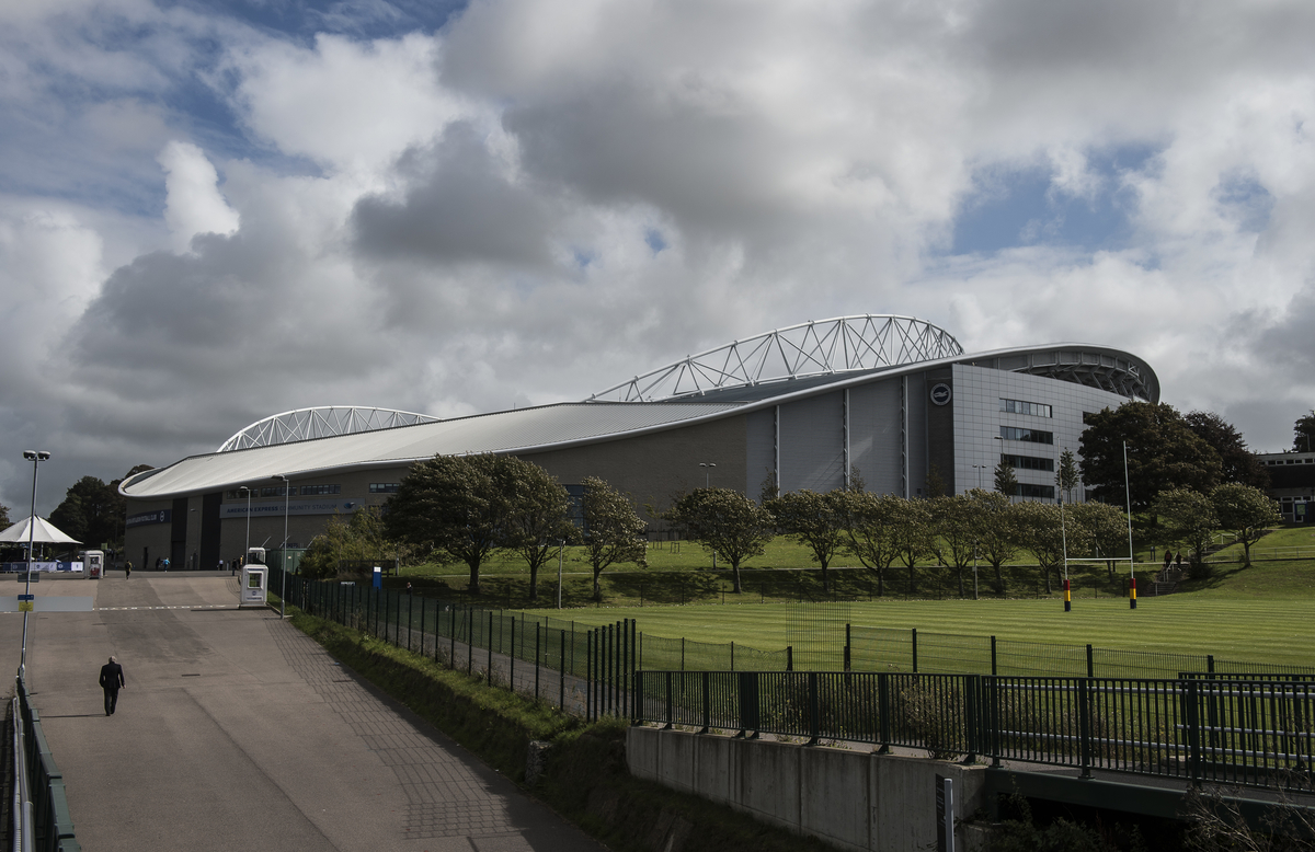 A general view of the American Express Community Stadium prior to the Sky Bet Championship match. Picture by Daniel Hambury/Focus Images Ltd +44 7813 022858 12/09/2015