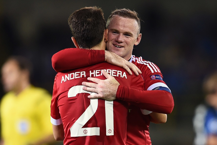 Ander Herrera y Wayne Rooney (Foto: Focus Images Ltd)