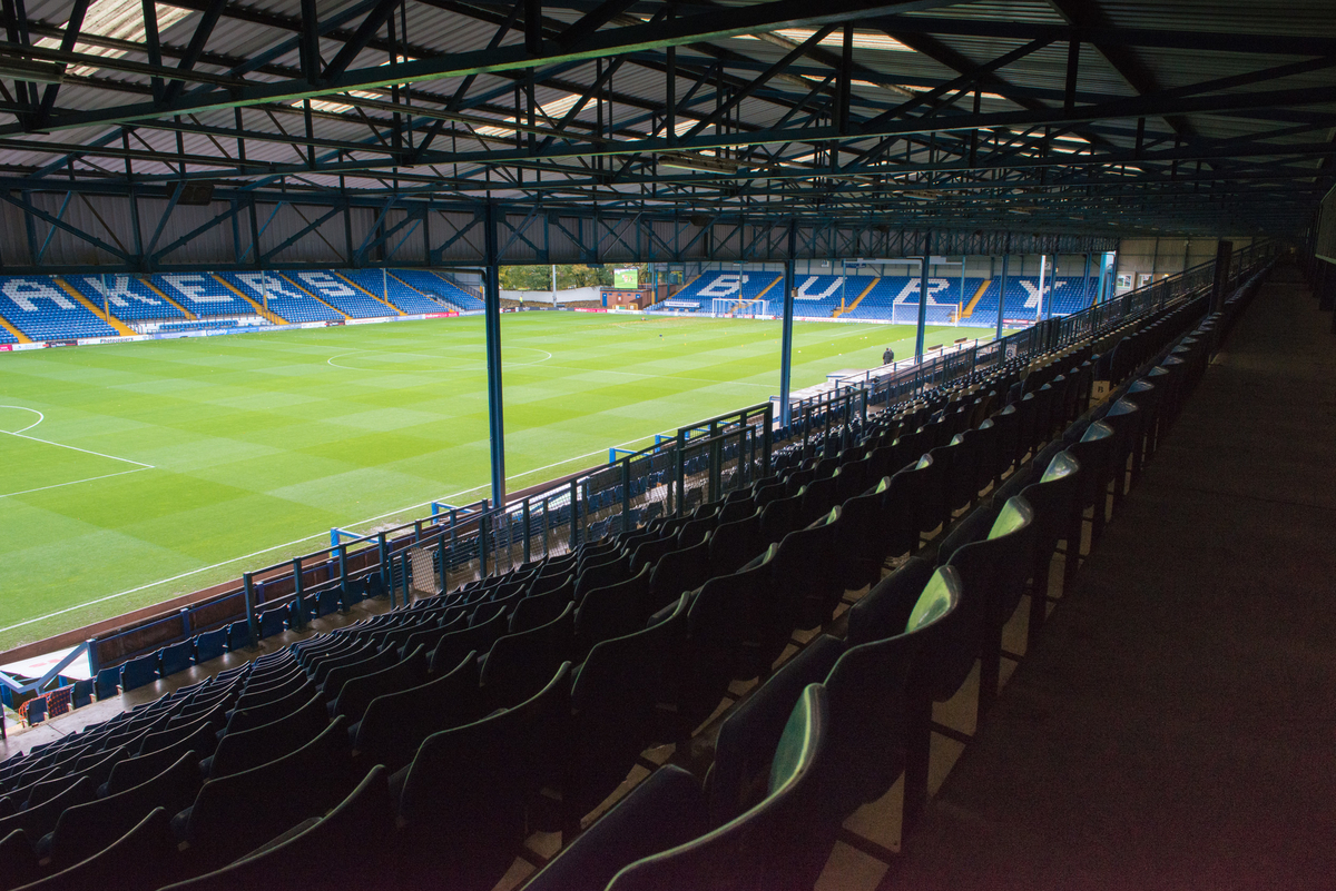A general view of Gigg Lane, Bury prior to the FA Cup match between Bury and Wigan Athletic Picture by Matt Wilkinson/Focus Images Ltd 07814 960751 07/11/2015
