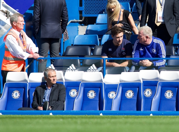 Manager Jose Mourinho of Chelsea during the Barclays Premier League match at Stamford Bridge, London Picture by Alan Stanford/Focus Images Ltd +44 7915 056117 19/09/2015
