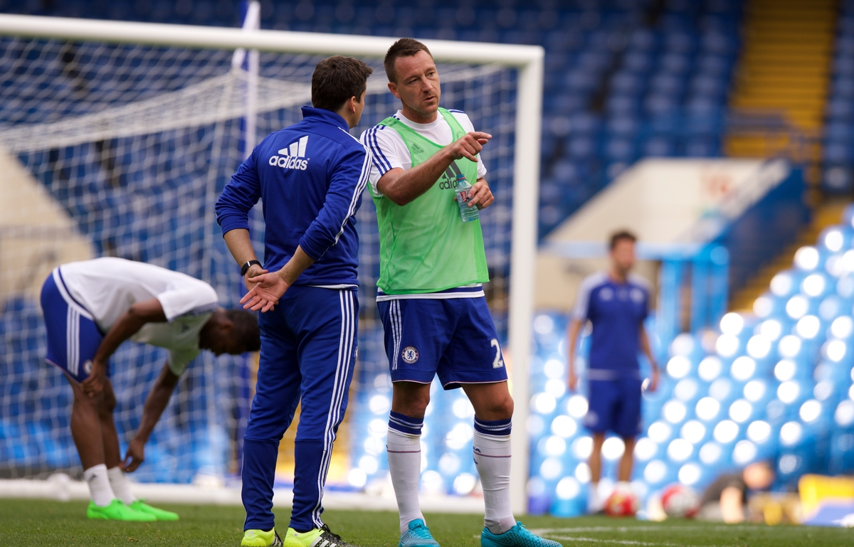 John Terry of Chelsea after working out after the Barclays Premier League match at Stamford Bridge, London Picture by Alan Stanford/Focus Images Ltd +44 7915 056117 19/09/2015