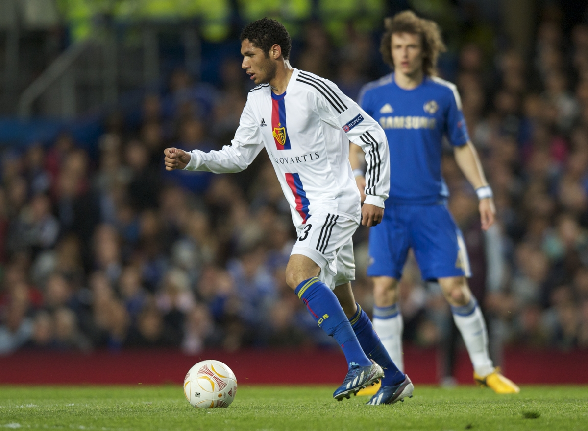 Picture by Alan Stanford/Focus Images Ltd +44 7915 056117.02/05/2013.Mohamed Elneny of FC Basel during the UEFA Europa League match at Stamford Bridge, London.
