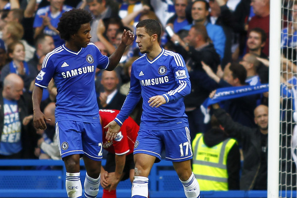 Willian y Hazard, claves en el triunfo del Chelsea en Southampton. Foto: Focus Images Ltd