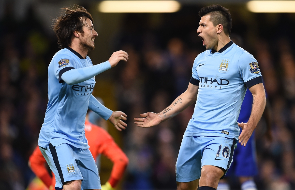 Silva y Agüero, claves del Manchester City (Foto: Focus Images Ltd)