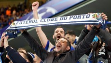 FC Porto fans before the UEFA Champions League match at Stamford Bridge, London Picture by Alan Stanford/Focus Images Ltd +44 7915 056117 09/12/2015