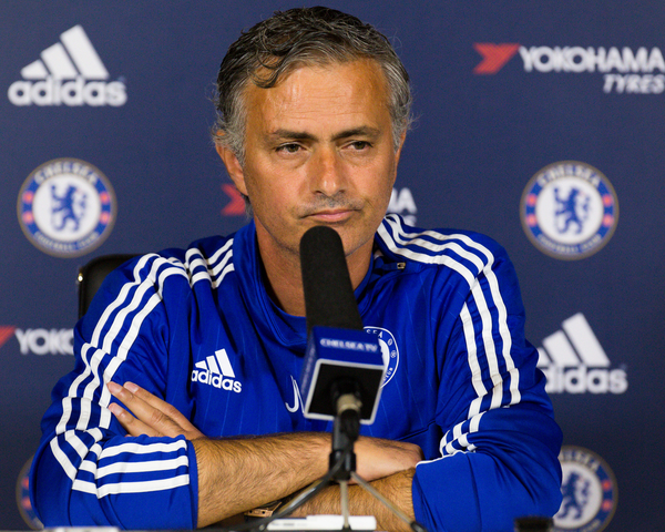Jose Mourinho during the Chelsea Press Conference prior to their Barclays Premier League match against Manchester City at Chelsea Training Ground, Cobham Picture by Mark Chappell/Focus Images Ltd +44 77927 63340 14/08/2015