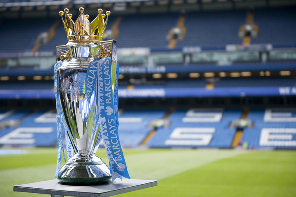 The Premier League Trophy before the Barclays Premier League match at Stamford Bridge, London Picture by Jack Megaw/Focus Images Ltd +44 7481 764811 24/05/2015