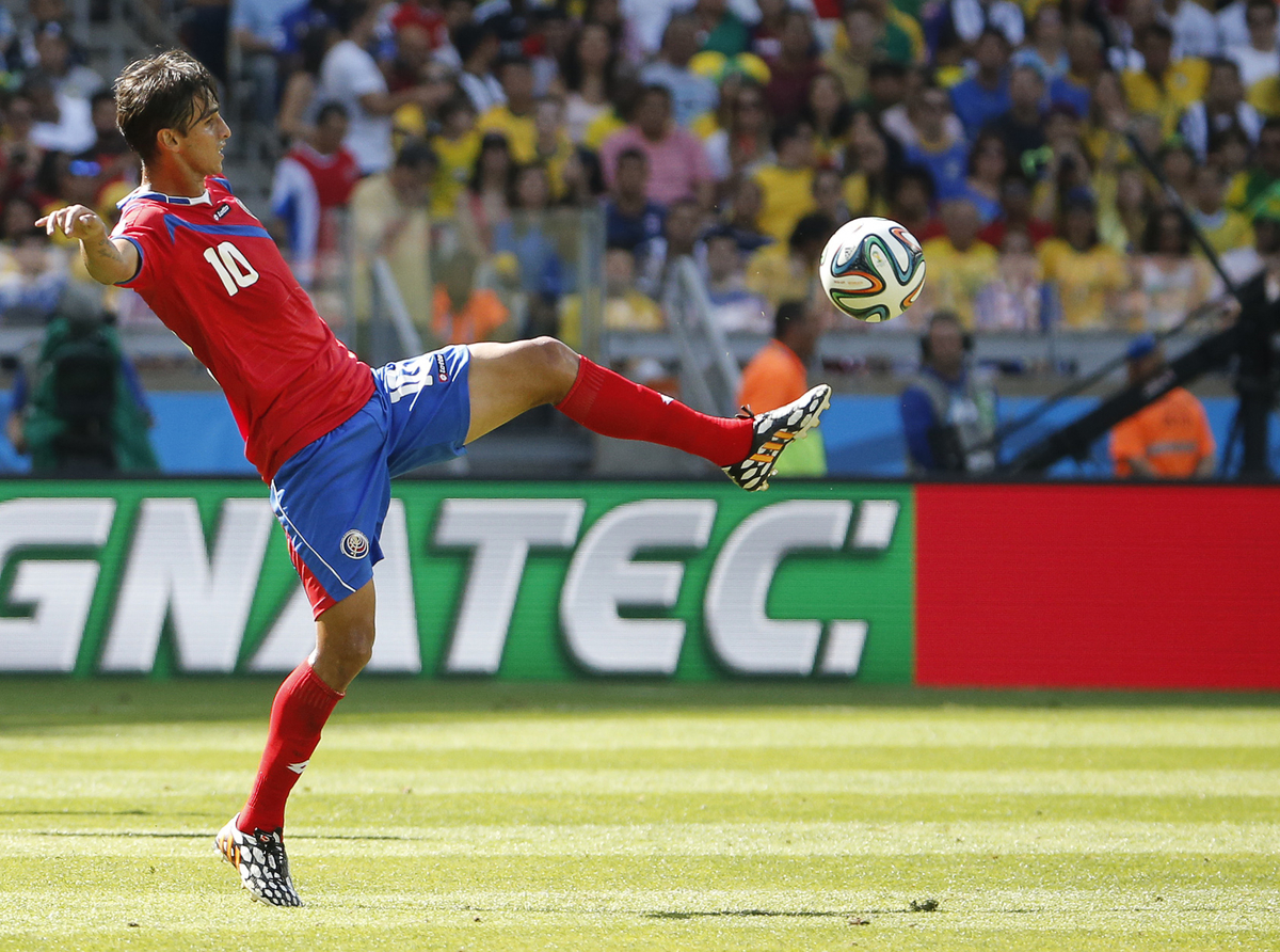 Bryan Ruiz of Costa Rica during the 2014 FIFA World Cup match at Mineirão, Belo Horizonte, Brazil.  Picture by Andrew Tobin/Focus Images Ltd +44 7710 761829 24/06/2014