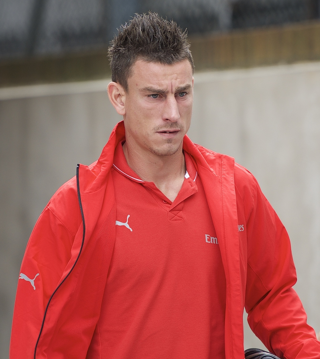 Laurent Koscielny of Arsenal arriving for the Barclays Premier League match at Selhurst Park, London Picture by Alan Stanford/Focus Images Ltd +44 7915 056117 16/08/2015