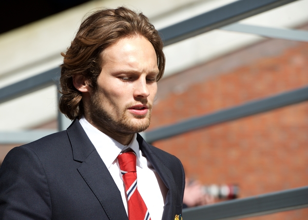 Daley Blind of Manchester United arriving for the Barclays Premier League match at Selhurst Park, London Picture by Alan Stanford/Focus Images Ltd +44 7915 056117 09/05/2015