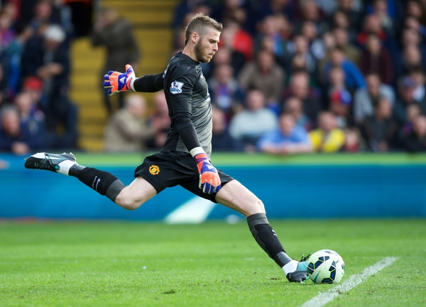 Goalkeeper David De Gea of Manchester United during the Barclays Premier League match at Selhurst Park, London Picture by Alan Stanford/Focus Images Ltd +44 7915 056117 09/05/2015