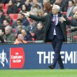 Manager Alan Pardew of Crystal Palace encourages the fans during the FA Cup semi-final at Wembley Stadium, London Picture by Alan Stanford/Focus Images Ltd +44 7915 056117 24/04/2016
