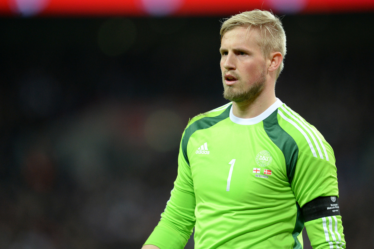 Kasper Schmeichel of Denmark during the International Friendly match against England at Wembley Stadium, London Picture by Andrew Timms/Focus Images Ltd +44 7917 236526 05/03/2014