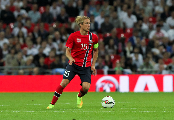 Per Ciljan Skjelbred of Norway in possession of the ball during the International Friendly match at Wembley Stadium, London Picture by Tom Smith/Focus Images Ltd 07545141164 03/09/2014