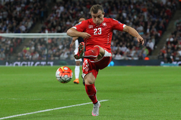 Xherdan Shaqiri of Switzerland in action during the UEFA Euro 2016 Qualifying match at Wembley Stadium, London Picture by Paul Chesterton/Focus Images Ltd +44 7904 640267 08/09/2015