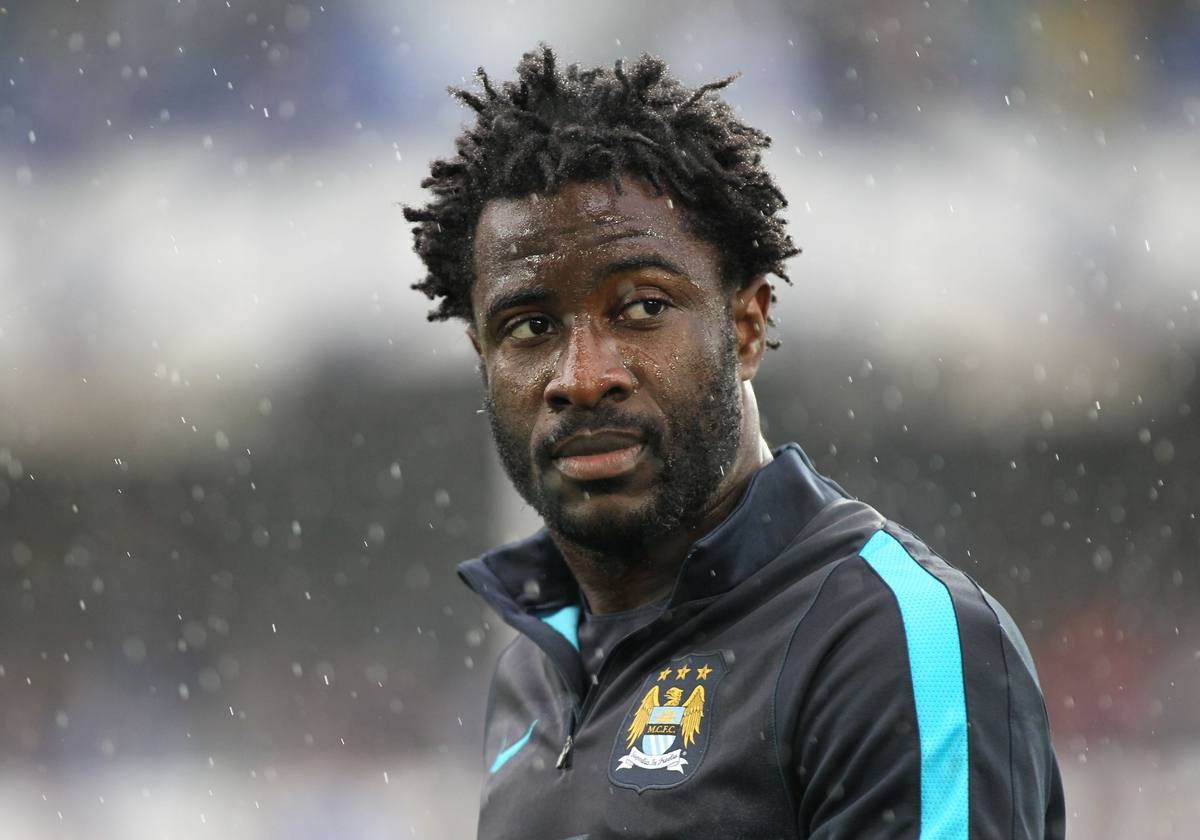 Wilfried Bony of Manchester City prior to the Barclays Premier League match against Everton at Goodison Park, Liverpool. Picture by Michael Sedgwick/Focus Images Ltd +44 7900 363072 23/08/2015