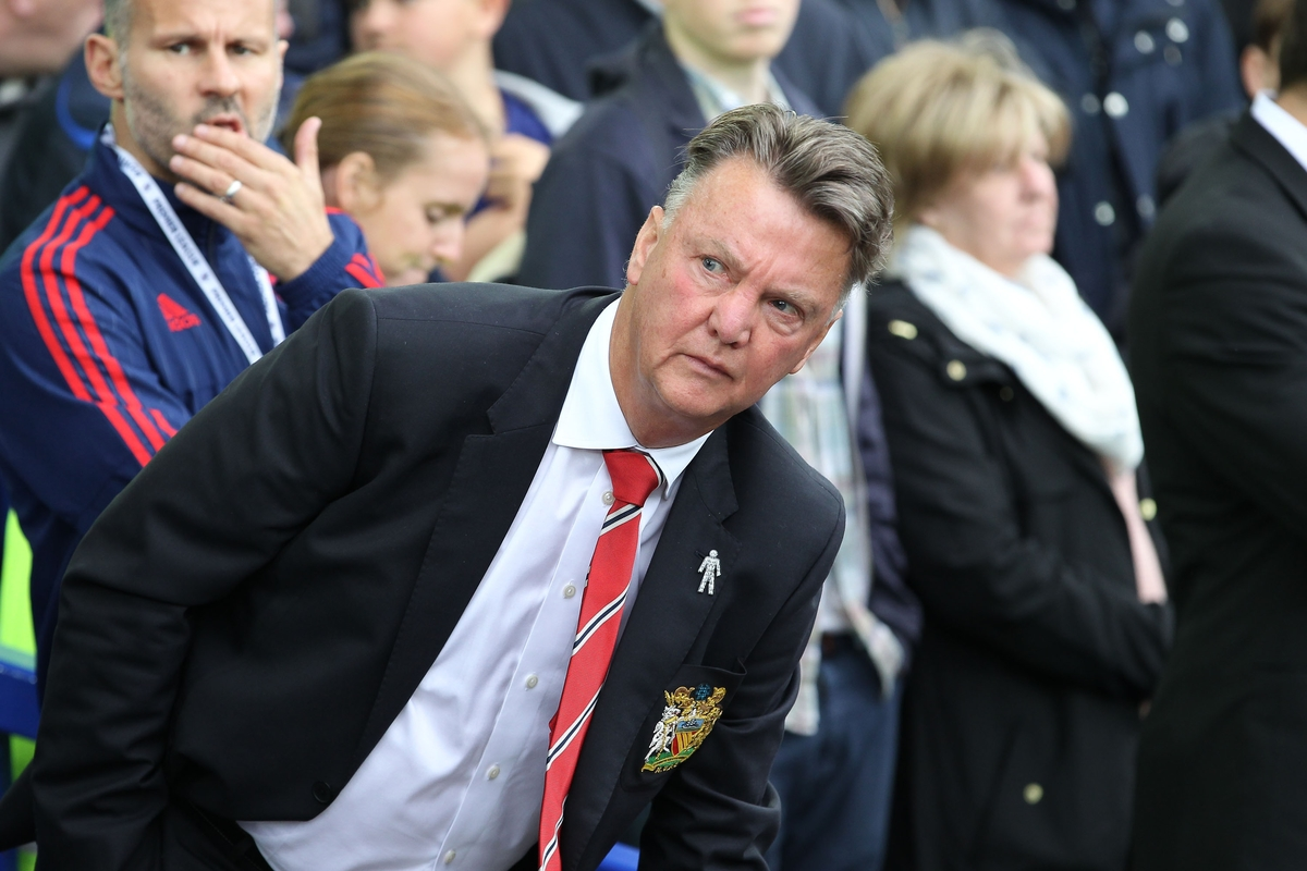 Louis van Gaal manager of Manchester United on the touchline prior to the Barclays Premier League match against Everton at Goodison Park, Liverpool. Picture by Michael Sedgwick/Focus Images Ltd +44 7900 363072 17/10/2015