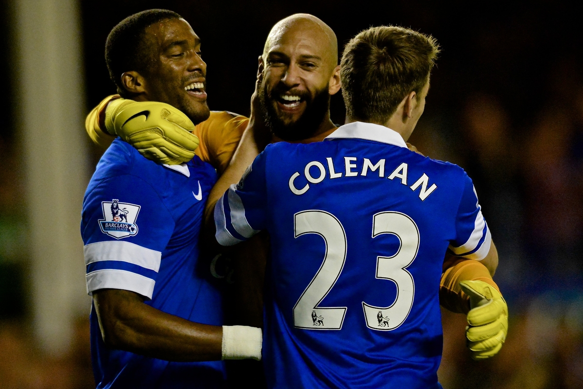Everton Distin Coleman Howard Focus