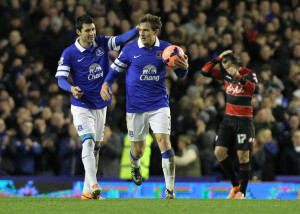 Everton Jelavic Focus
