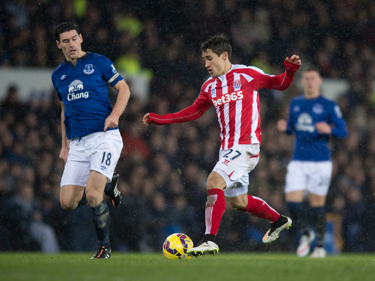 Everton Stoke Bojan Krkic Gareth Barry Focus