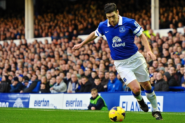 Gareth Barry llegó al Everton cedido por el Manchester City (Foto: Focus Images Ltd)