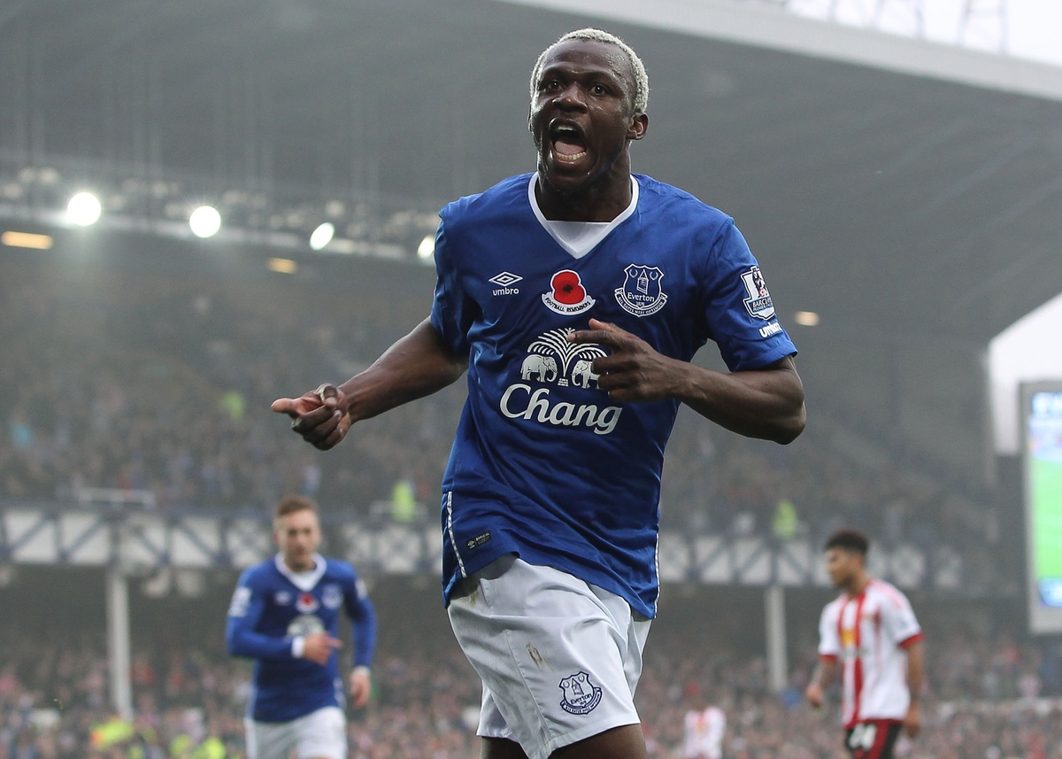 Arouna Kone of Everton celebrates scoring the fifth goal against Sunderland during the Barclays Premier League match at Goodison Park, Liverpool. Picture by Michael Sedgwick/Focus Images Ltd +44 7900 363072 01/11/2015
