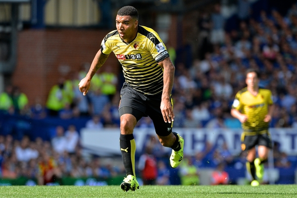 Troy Deeney of Watford during the Barclays Premier League match at Goodison Park, Liverpool Picture by Ian Wadkins/Focus Images Ltd +44 7877 568959 08/08/2015