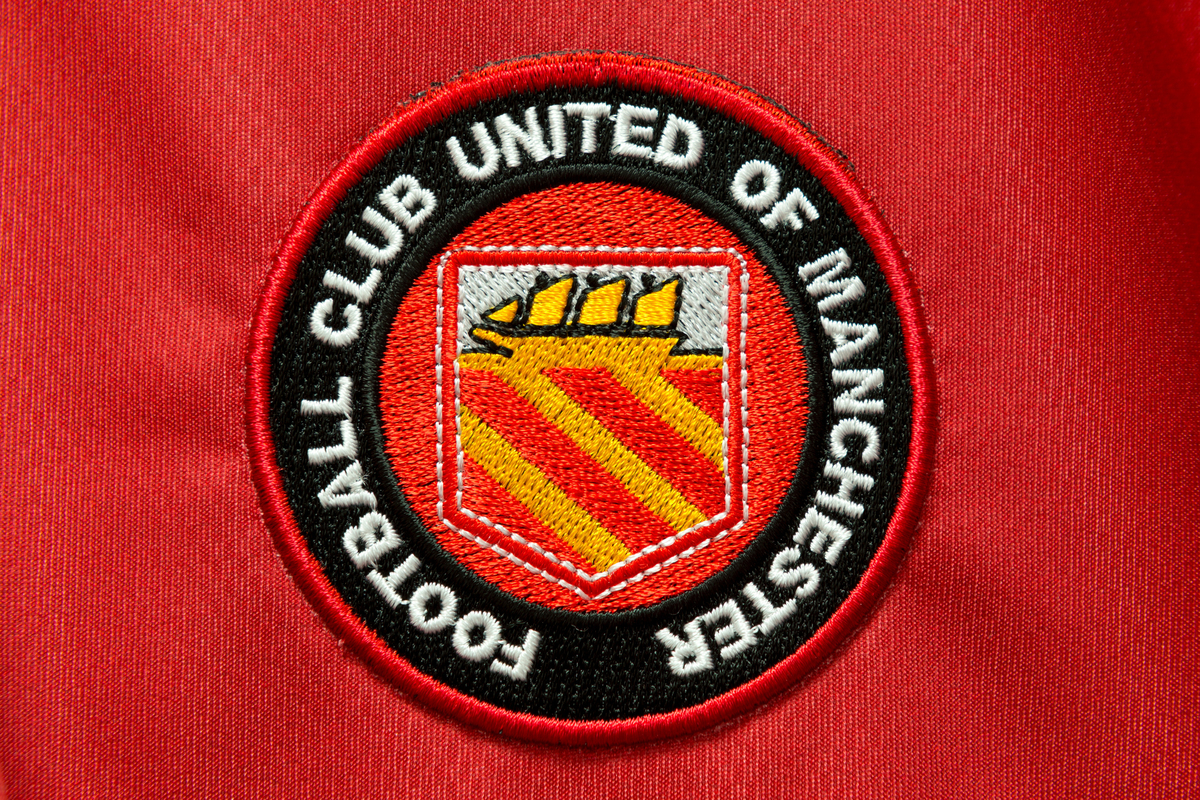 A general view of the FC United of Manchester club badge before the friendly match at Broadhurst Park, Moston Picture by Russell Hart/Focus Images Ltd 07791 688 420 29/05/2015