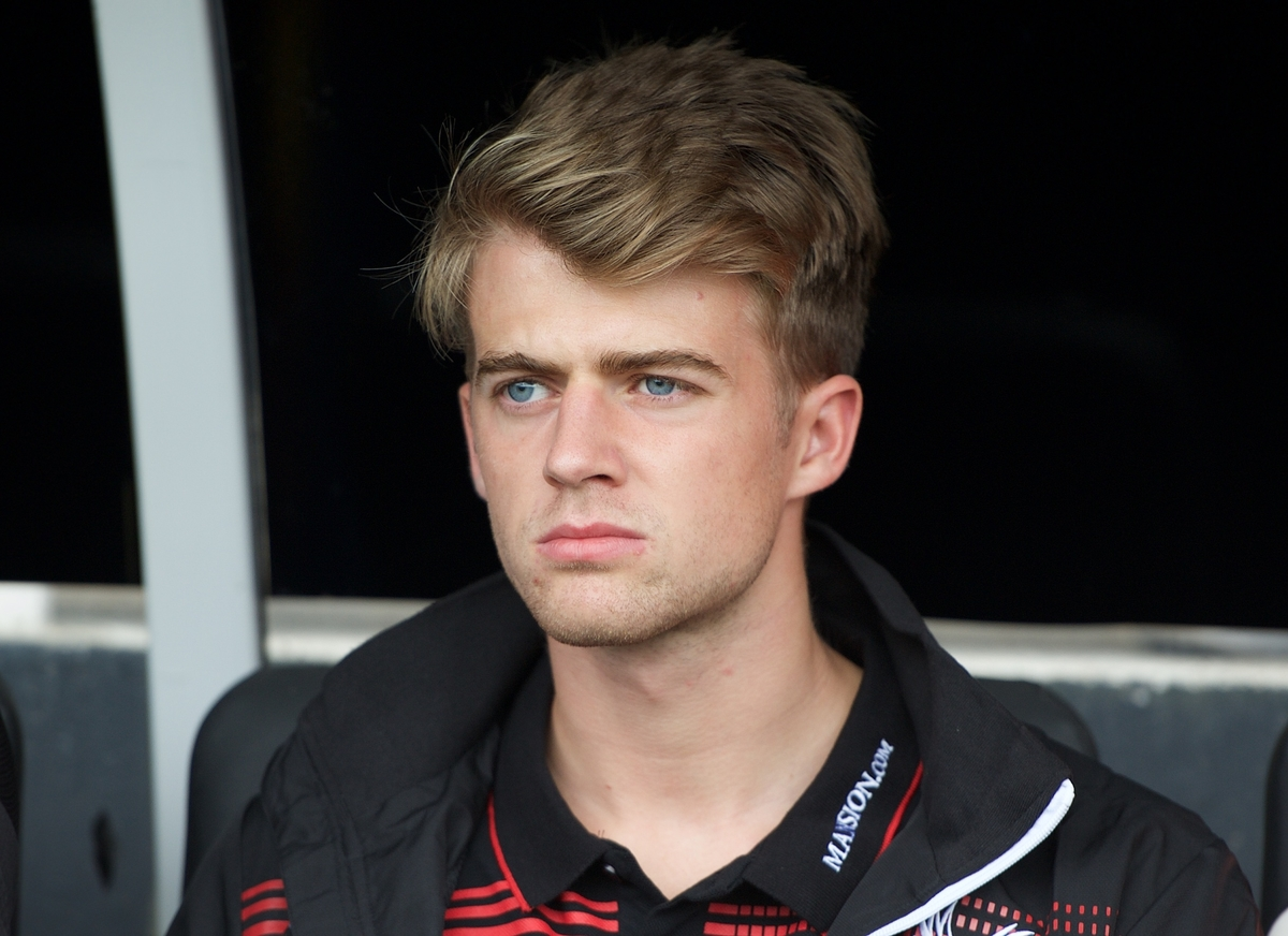 Patrick Bamford of Crystal Palace on the bench during the pre season friendly match at Craven Cottage, London Picture by Alan Stanford/Focus Images Ltd +44 7915 056117 01/08/2015
